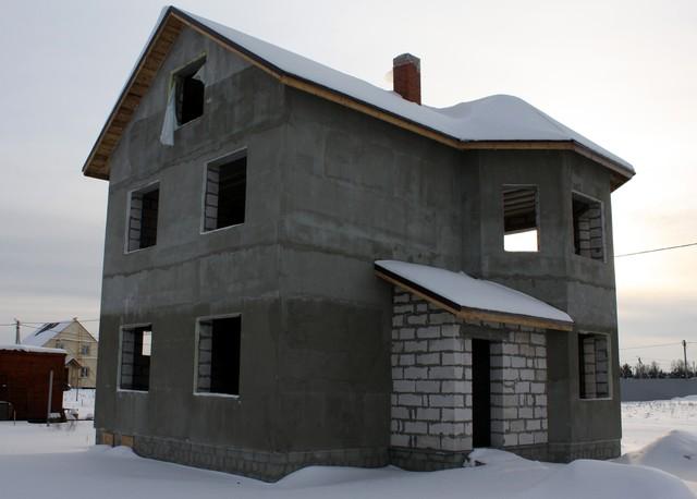 Строительство коттеджа по технологии Мокрый фасад